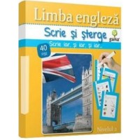 Limba Engleza Post-Beginner - Ciclul primar – Scrie si sterge 40 fise