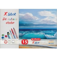 Bloc Desen X.Block A4, 15 file, 250g/mp, 9478840 - Herlitz
