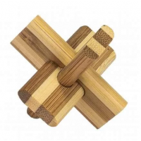 3D Bamboo Puzzle Doublecross - Ludicus