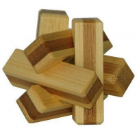 3D Bamboo Puzzle Firewood - Ludicus