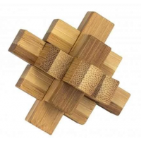 3D Bamboo Puzzle Knotty - Ludicus