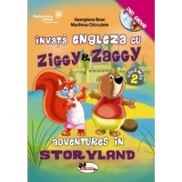 Invata engleza cu Ziggy&Zaggy II + CD - Adventures in storyland