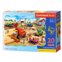 Puzzle 20 piese maxi Work On The Farm Castorland