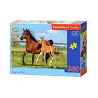 Puzzle 260 piese Mare And Foal - Castorland
