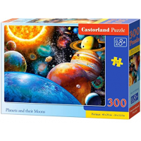Puzzle 300 piese Planets and their Moons - Castorland