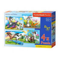 Puzzle 4 in 1 (18+12+15+20) Mothers and Babies - Castorland