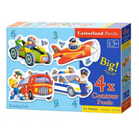 Puzzle 4 In 1 (3+4+6+9) Exciting Jobs - Castorland