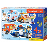 Puzzle 4 in 1 (4+5+6+7) Rescue Services - Castorland