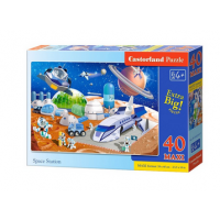 Puzzle 40 piese Maxi Space Station - Castorland