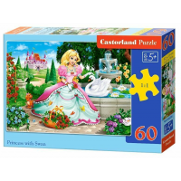Puzzle 60 Piese Prinecss With Swan - Castorland