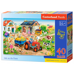 Puzzle 40 piese Maxi Life on the Farm - Castorland