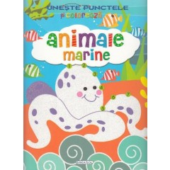 Uneste punctele si coloreaza: Animale marine