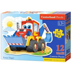 Puzzle 12 piese Maxi Funny Digger - Castorland