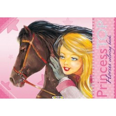 Princess top. Horses coloring book