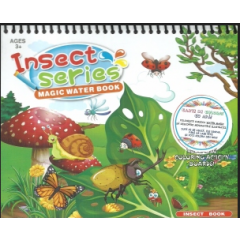 Insect series. Magic Water Book. Carte de colorat cu apa + Carioca - Editura Licii