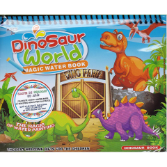 Dinosaur World. Magic Water Book. Carte de colorat cu apa + Carioca - Editura Licii