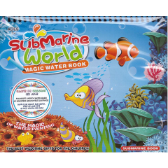 Submarine World. Magic Water Book. Carte de colorat cu apa + Carioca - Editura Licii