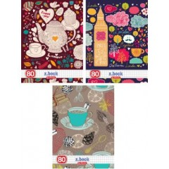 Caiet A5 80 file patratele tea time 9466690 Herlitz