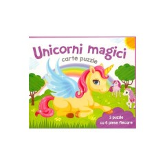Unicorni Magici. Carte puzzle - Editura Flamingo Junior