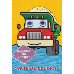 Mijloace de transport. Carte de colorat - Editura Biblion