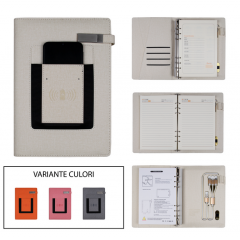 Smart Notebook multifunctional A5 cu incarcare wireless, suport telefon si banca de alimentare incorporata (J20-4-12)