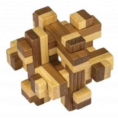 3D Bamboo Puzzle Prison House - Ludicus