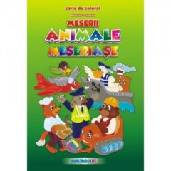 Animale meseriase - carte de colorat (rom-eng)