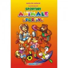 Animale sportive - carte de colorat (rom-eng)