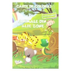 Carte de colorat - Animale din alte zone