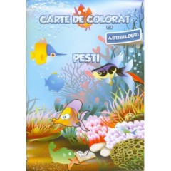 Carte de colorat - Pesti