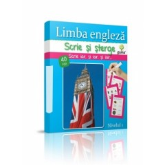 Scrie si sterge: Limba engleza (40 fise)