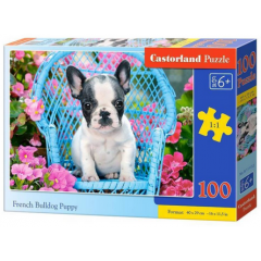 Puzzle 100 piese French Bulldog Puppy - Castorland