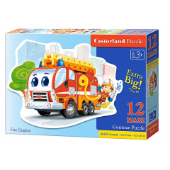 Puzzle 12 piese Maxi Fire Engine - Castorland