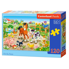 Puzzle 120 piese On The Farm - Castorland
