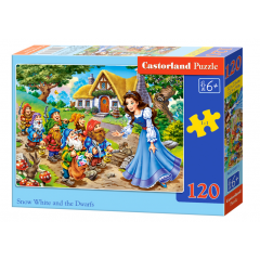 Puzzle 120 piese Snow White And The Seven Dwarfs - Castorland