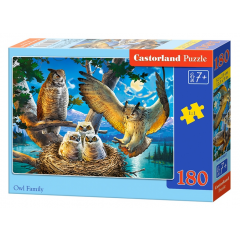 Puzzle 180 piese Owl Family - Castorland