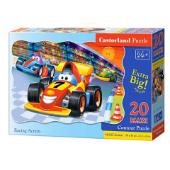 Puzzle 20 piese Maxi Racing Action - Castorland