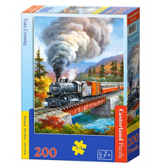Puzzle 200 piese Train Crossing - Castorland
