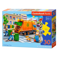 Puzzle 30 piese Garbage Car - Castorland