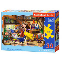 Puzzle 30 piese Snow White And The Seven Dwarfs - Castorland