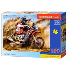 Puzzle 300 piese Dirt Bike Power - Castorland