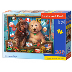 Puzzle 300 piese Stowaway Pups - Castorland