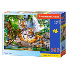 Puzzle 300 piese Tiger Falls - Castorland