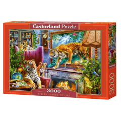 Puzzle 3000 piese Tigers Coming to Life - Castorland