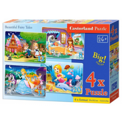 Puzzle 4 in 1 (18+12+15+20) Beautiful Fairy Tale - Castorland