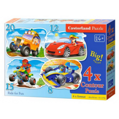 Puzzle 4 in 1 (18+12+15+20) Fun for Ride - Castorland