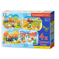 Puzzle 4 In 1 (8+12+15+20) Four Season - Castorland