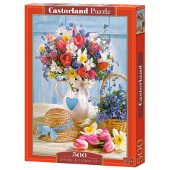 Puzzle 500 piese Spring In Flower Pot - Castorland