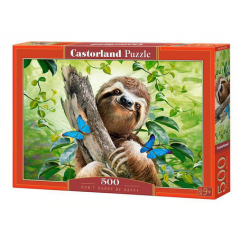 Puzzle 500 piese Dont Hurry Be Happy - Castorland