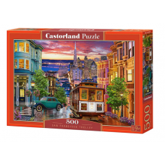 Puzzle 500 piese San Francisco Trolley - Castorland